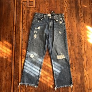 NWT Forever 21 Distressed Super High-Rise Jeans
